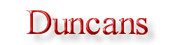 Duncans Logo -Times Roman Lettering, 3D, with shadowing background